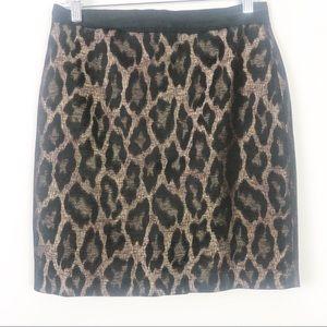 Ann Taylor   Leopard Skirt   Size 6 Petite